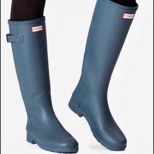 Hunter Blue Rubber Rain Boots